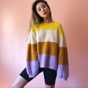 H&M Multi Stripe Mohair Sweater